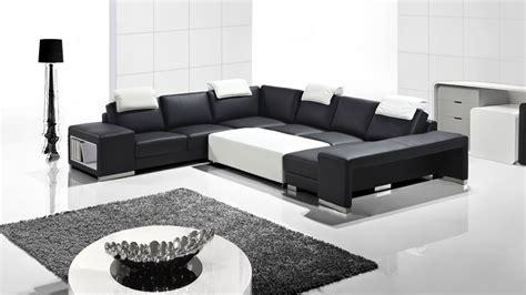 canapé cuir noir design vente canape cuir design noir blanc genesis collection