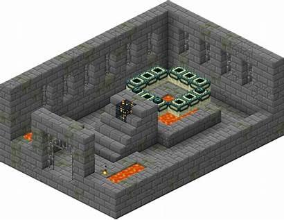 Portal End Minecraft Stronghold Fort Kresu Portail