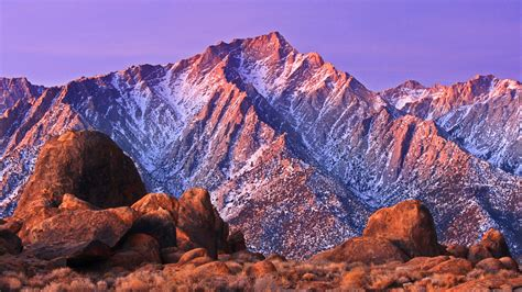 rocky mountains covered  snow alabama hills