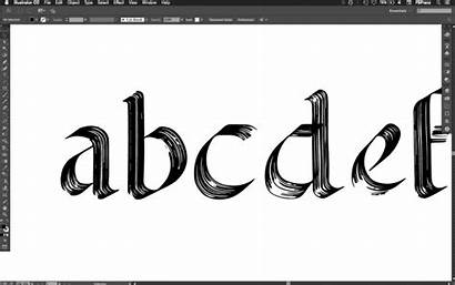 Font Fonts Fontself Calligraphy Creation Maker Photoshop