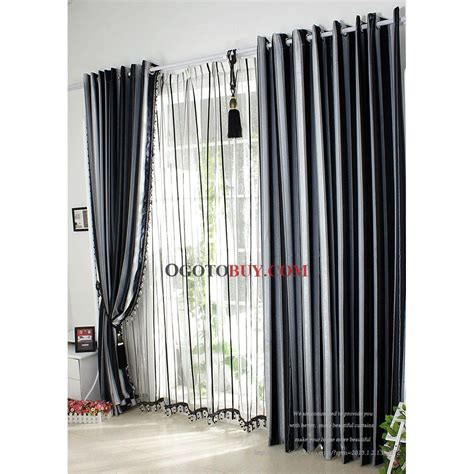 modern navy striped jacquard blackout curtains two panels c0003 jpg 1003 215 1003 apartment