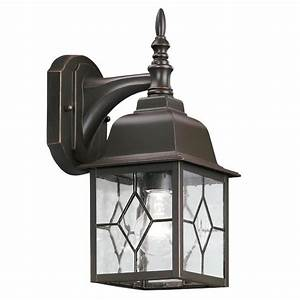 shop portfolio litshire 135 in h oil rubbed bronze With outdoor house lights at lowes