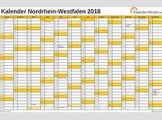 Feiertage 2018 NordrheinWestfalen + Kalender
