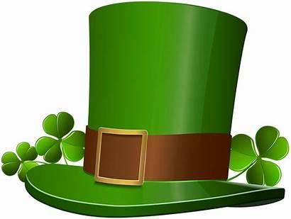 Leprechaun Hat Clip Clipart Clover Patrick Transparent