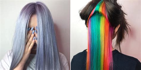 rainbow hair color trends       allure