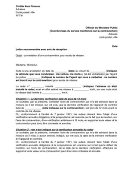 modele lettre contestation pv autre conducteur exemple lettre contestation pv