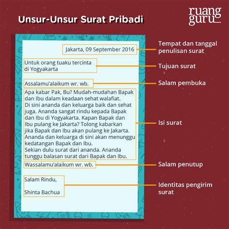 bahasa indonesia kelas  perbedaan antara surat pribadi