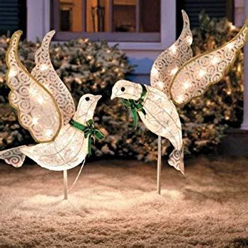 amazoncom set   lighted glitter scrolled peace doves
