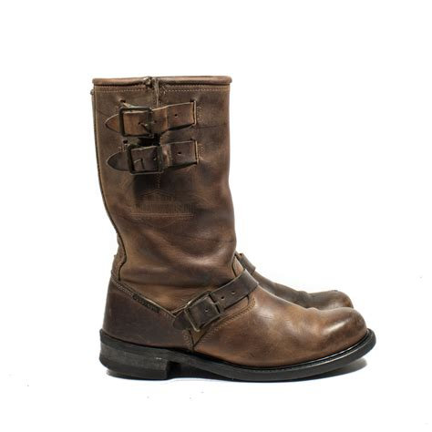 motorcycle in boots vintage harley davidson motorcycle boots by rabbithousevintage