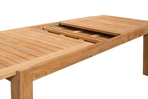table de jardin avec rallonge table de jardin de grande taille en teck massif avec rallonge 220 340 cm liverpool la galerie
