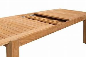 Table Bois Avec Rallonge : table de jardin de grande taille en teck massif avec ~ Teatrodelosmanantiales.com Idées de Décoration