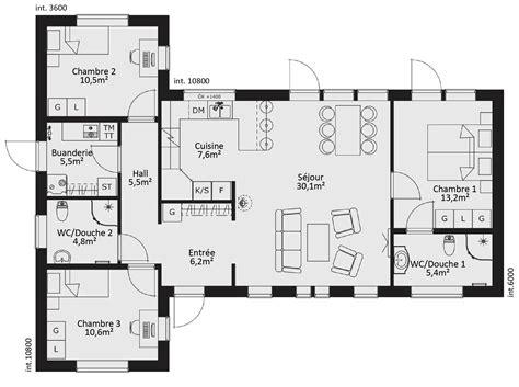 maison 4 chambres cuisine ideas about plan maison chambres on maison plan