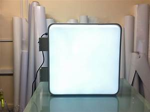 Pure Image  U00bb 55cm Square Projecting Light Box Led