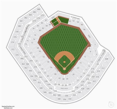 Baltimore Orioles Seating Map