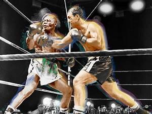 Rocky Marciano V Jersey Joe Walcott Painting by Tony Rubino