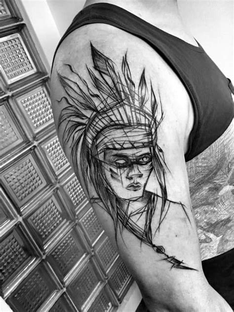 60 Sketch Tattoos For Men - Artistic Design Ideas