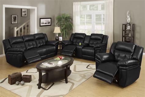 Contemporary Black Leather Sofa Set Office Furniture