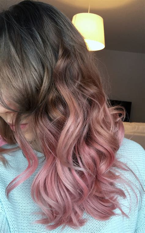 Road To Grey First Stop Ash To Pastel Pink Ombre Hair