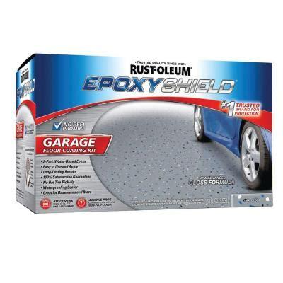rust oleum epoxy shield garage  gal gloss gray floor