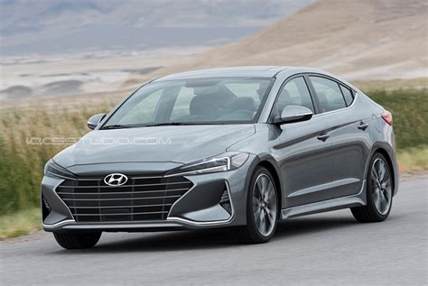 2019 Hyundai Elantra Facelift Rendered Autoevolution