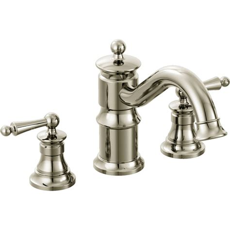 Moen Tub Faucet by Moen Ts214nl Waterhill Polished Nickel Two Handle