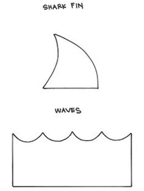 shark pattern   printable outline  crafts
