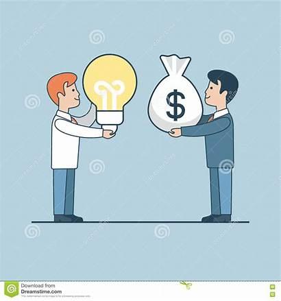 Investor Money Bag Vector Lamp Flat Linear