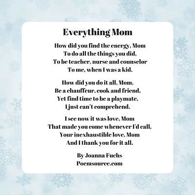 Mother Poems Full Tender Love Appreciation