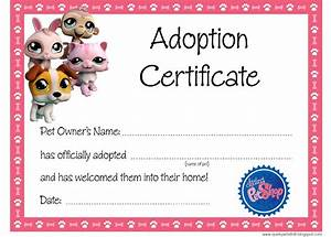 quirky artist loft littlest pet shop party free adoption certificate With free printable adoption certificate