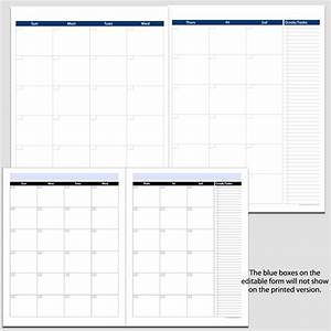Monthly 2-page Perpetual Calendar With Tasks  2 U0026quot  X 11