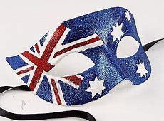 Australian Flag Mask Masquerade Costume Glitter Fancy