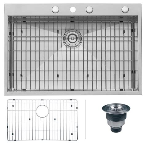 best gauge for stainless steel sink ruvati drop in stainless steel 33 in top mount 16 gauge