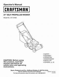 Craftsman Self Propelled Lawn Mower Parts Diagram