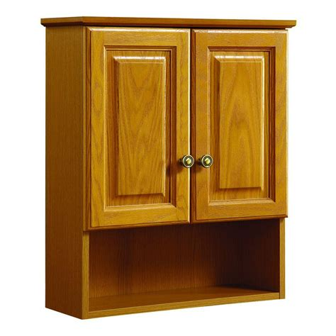 oak bathroom wall cabinets design house claremont 21 in w x 26 in h x 8 in d