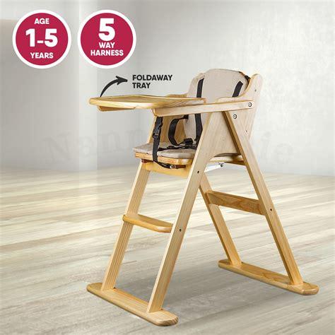 Wooden Folding Baby Highchair  Foldaway Baby High Chair