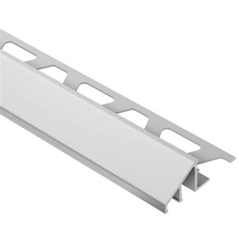 schluter reno u satin anodized aluminum 11 16 in x 8 ft