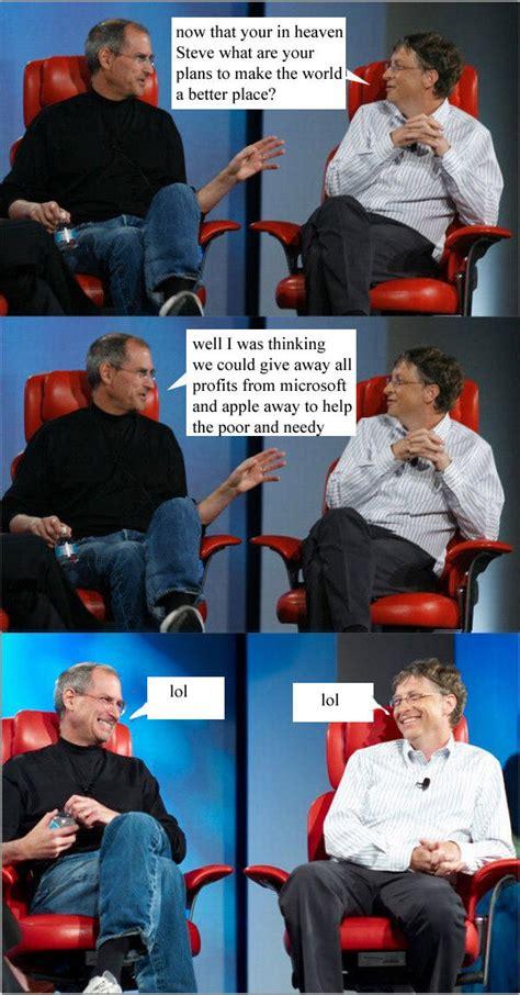 Bill Gates And Steve Jobs Meme - image 183056 steve jobs vs bill gates know your meme