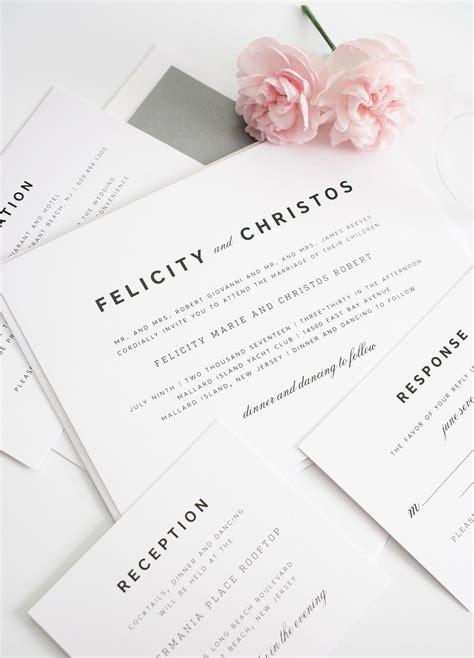 Romantic Wedding Invitations With An Urban Feel Wedding