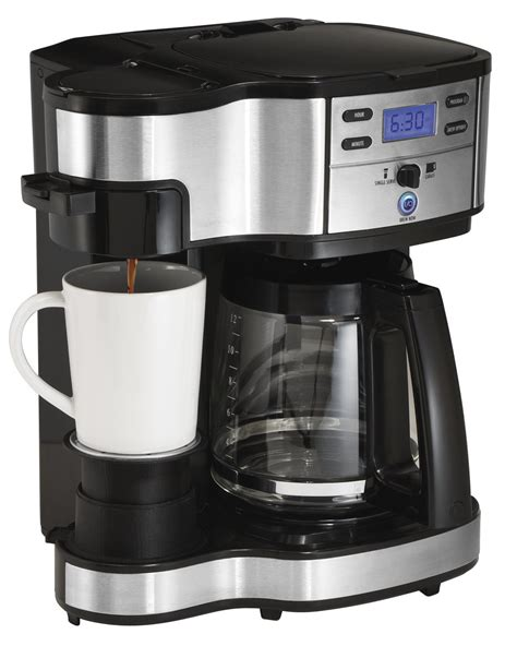 hamilton pot coffee maker and single serve coffee brewer 49980a 2 way review
