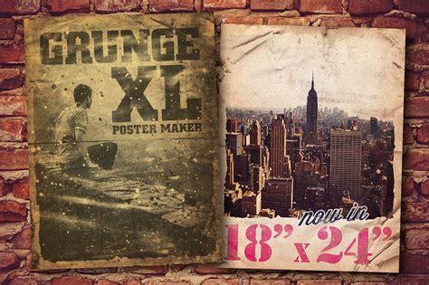 grunge poster maker xl    layer styles