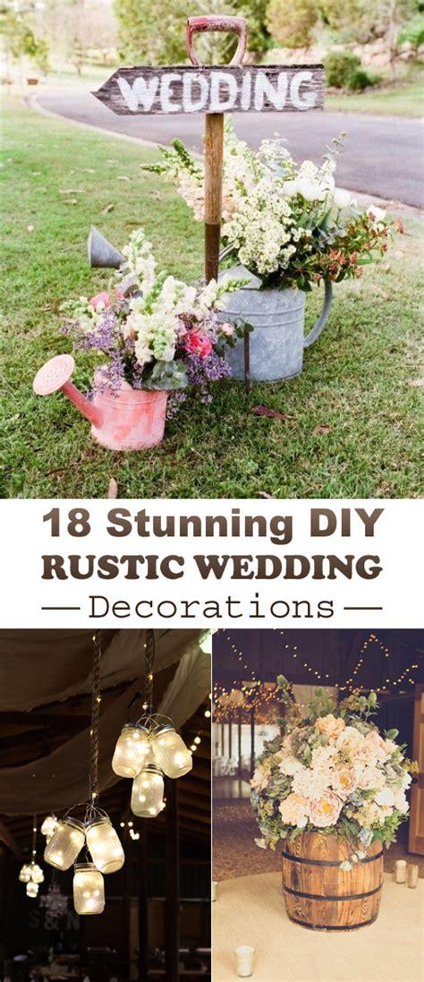 rustic wedding decor ideas 18 stunning diy rustic wedding decorations