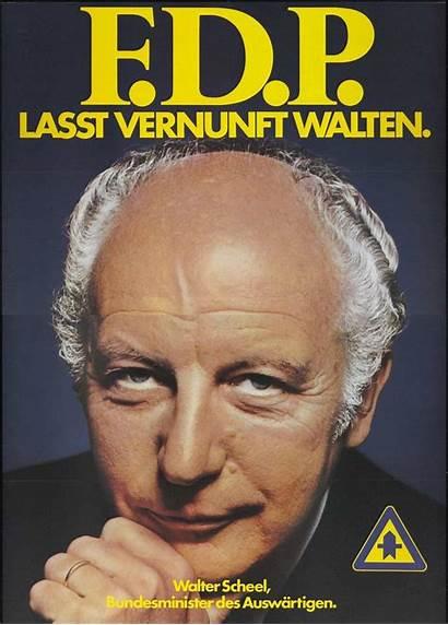 Scheel Walter Bundestagswahl 1972 Fdp Plakat Wahlplakat