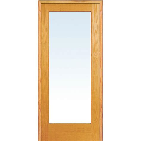 Prehung Interior Doors Home Depot - milliken millwork 31 5 in x 81 75 in classic clear glass 1 lite unfinished pine wood interior