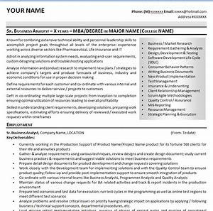 sample it business analyst resume cv With business analyst resume sample
