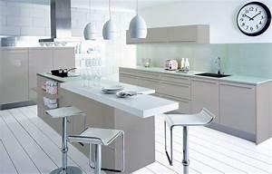 best cuisine blanc et taupe ideas lalawgroupus With cuisine orange et grise