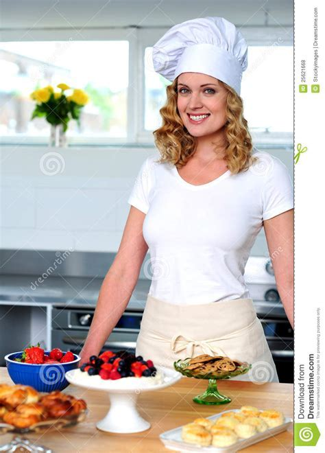 An Isolated Shot Of A Beautiful Woman Chef Royalty Free