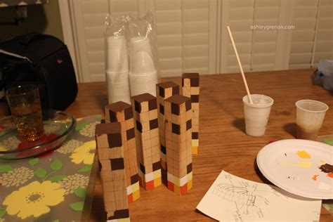 diy minecraft torch tutorial handmade  ashley