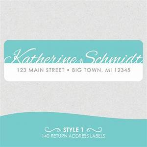 personalized return address labels fancy name with color With fancy return address labels