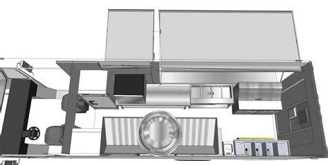 plan en 3d cuisine custom food trucks 3d floor plan truck ft idolza