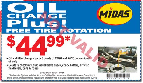 Beat The Midas Hawaii Oil Change Price